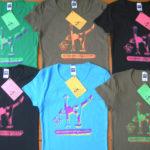 シルクスクリーンプリントヨガレディースTシャツ
