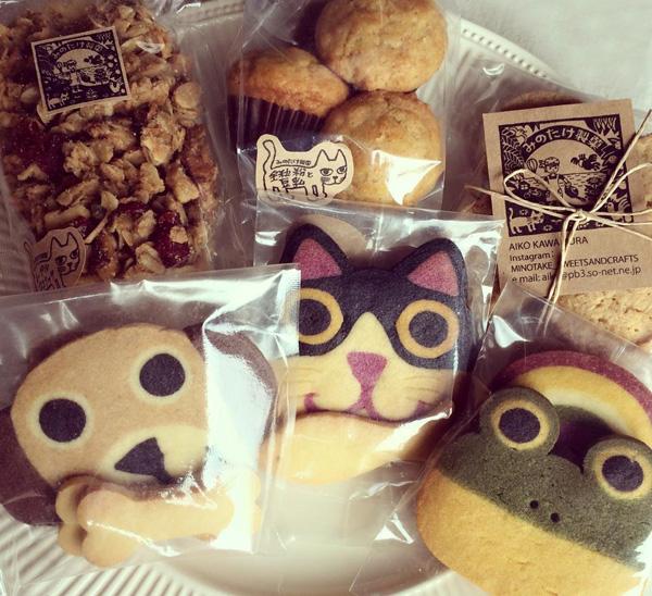 みのたけ製菓のアイスボックスクッキーとショップカード