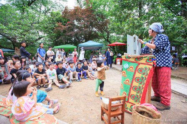 八王子ヨガ祭り_たまちゃんの紙芝居
